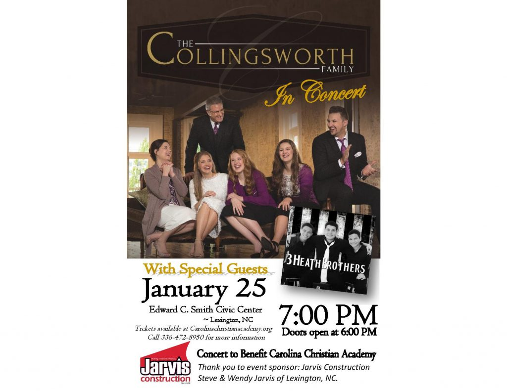 Collingsworth Family January, 2019 Calendar The Collingsworth Family In Concert